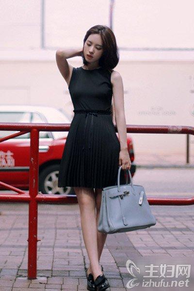 资讯生活微胖女生夏季显瘦穿搭秘籍 黑色连衣裙看上去少10斤